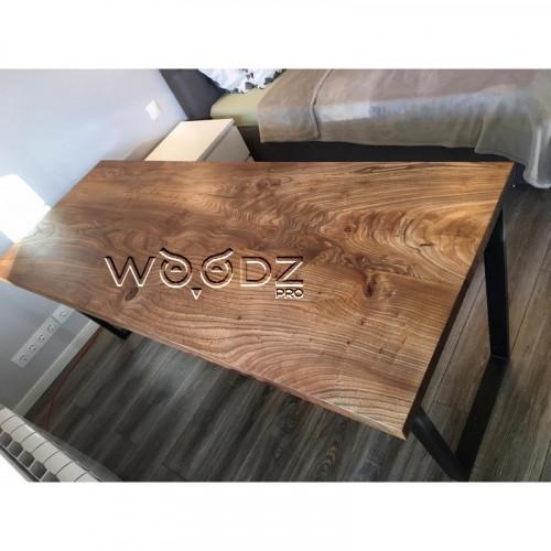 Обеденный стол из слэба карагача