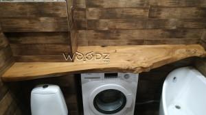 Столешница в ванную комнату из массива карагача