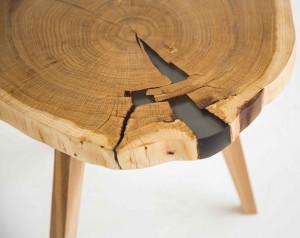 Журнальный столик из спила дуба
