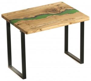 Стол из карагача с зеленой рекой