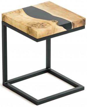 Придиванный столик из ореха с черной рекой