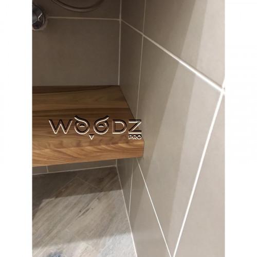 Столешницы в ванную из слэба карагача