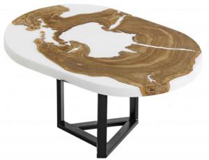 Журнальный столик с белой матовой заливкой
