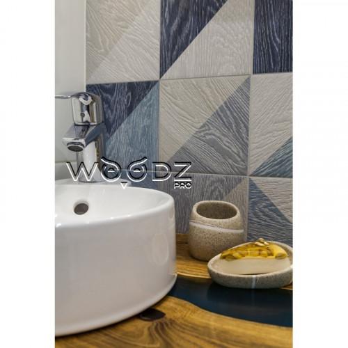 Столешница в ванную с голубой рекой - Model 60