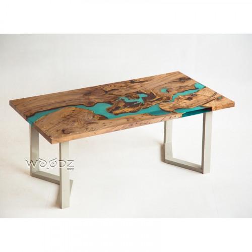 Обеденный стол с заливкой Тиффани