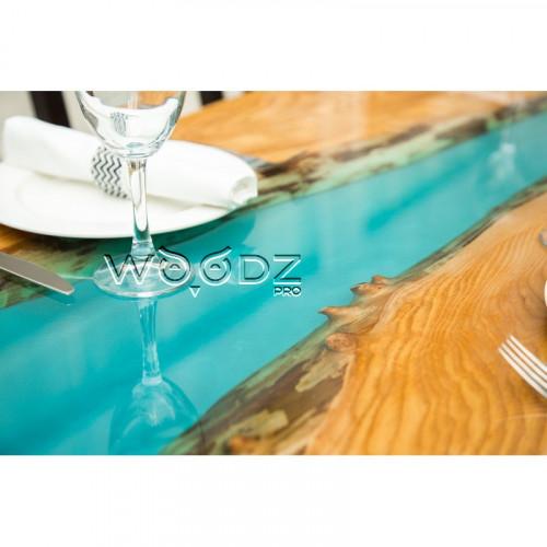 Стол из Ясеня с голубой рекой - Model 372