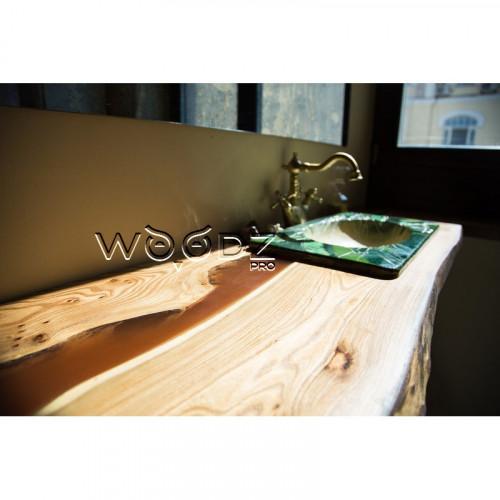 Столешница в ванную комнату с коричневой рекой - Model 93