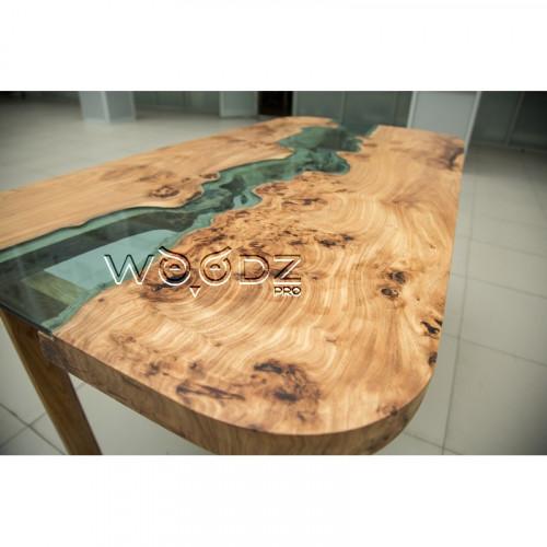 Обеденный стол со стеклом, из Карагача - Model 712