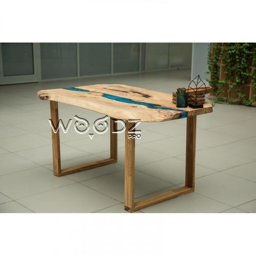 Обеденный стол с рекой из Карагача - Model 916