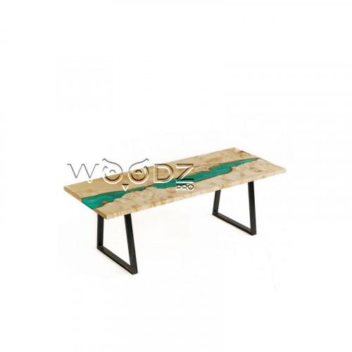 Обеденный стол из клена с рекой тиффани - Model 175