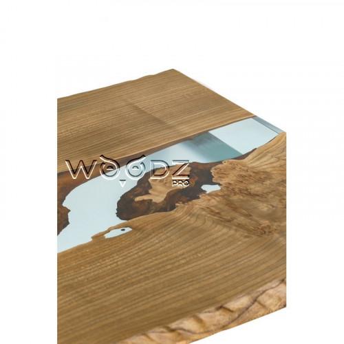 Обеденный стол из карагача с голубой рекой - Model 3349