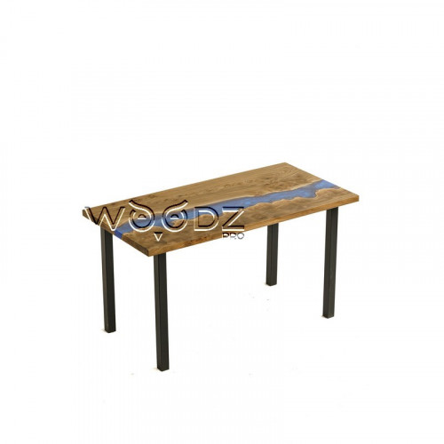 Обеденный стол с рекой цвета королевский синий
