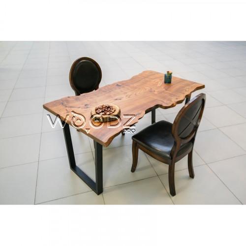 Стол из слэба карагача с живым краем - Model 1638
