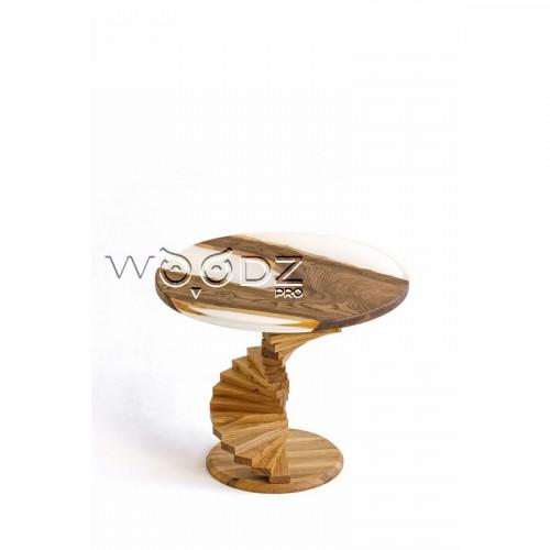 Журнальный столик из карагача с заливкой - Model 171/1