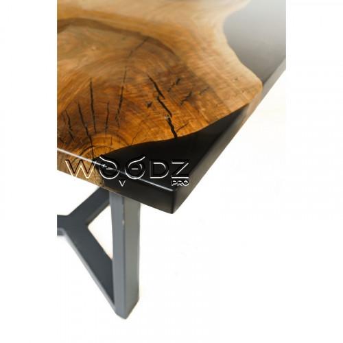 Обеденный стол из ореха с черной заливкой - Model 2738