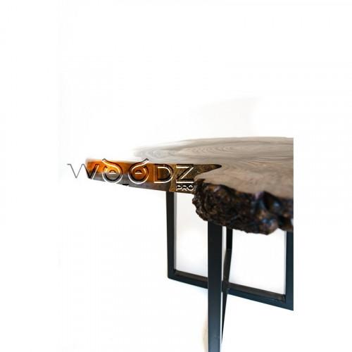 Журнальный стол из спила карагача