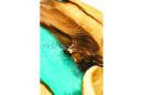 Столик из шелковицы с рекой цвета тиффани