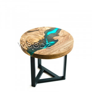 Журнальный столик с голубой рекой