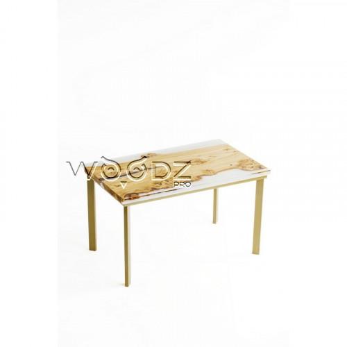 Обеденный стол из карагача с прозрачной заливкой - Model 2711