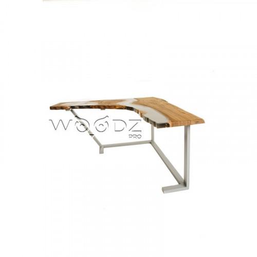 Рабочий угловой стол с реками