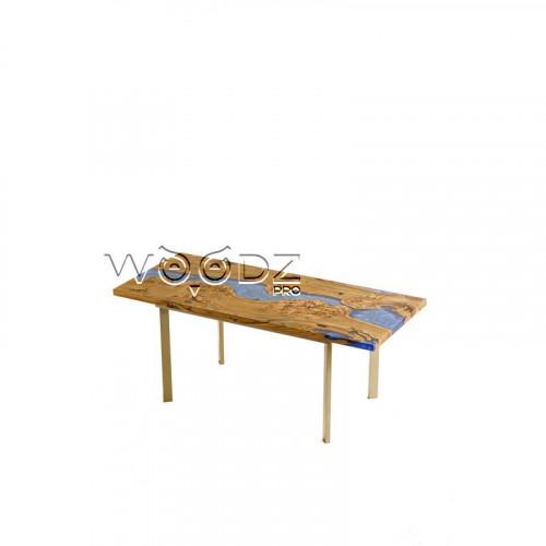 Обеденный стол из карагача с заливкой - Model 150
