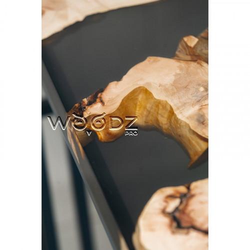 Обеденный стол из Клена Сикамора с темно-серой заливкой