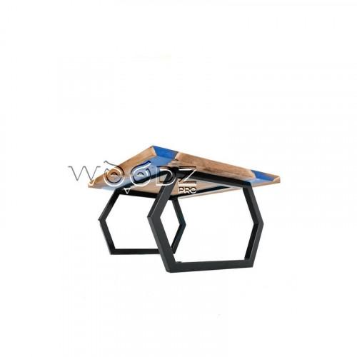 Стол с 2 реками цвета королевский синий