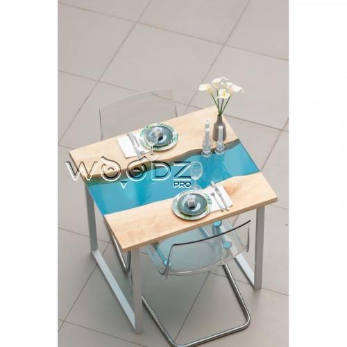 Обеденный стол с голубой рекой из Клена - Model 1118