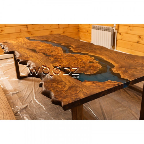 Стол из Карагача с голубой рекой - Model 1270