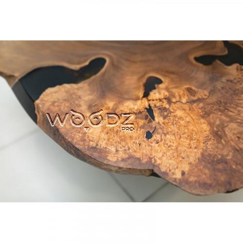 Журнальный стол из спила Карагача с заливкой - Model 1336
