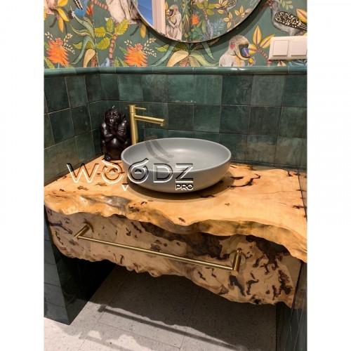 Столешницы в ванную комнату из дерева клен сикомора - Model 205