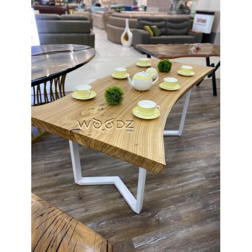 Обеденный стол из слэба карагача - Model 166