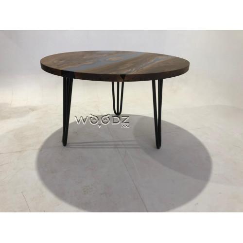 Обеденный стол из карагача с заливкой - Model 3247